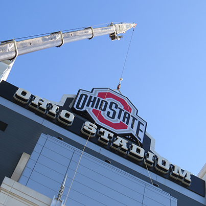 Ohio State University stadium sign
