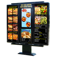 exterior hybrid digital menu boards