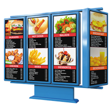 rotating exterior menu boards
