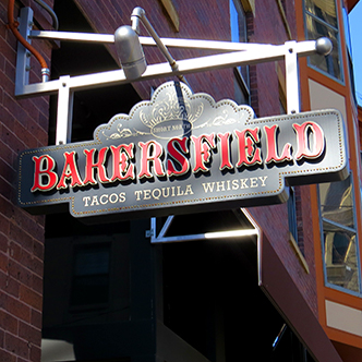 Bakersfield cantilever sign