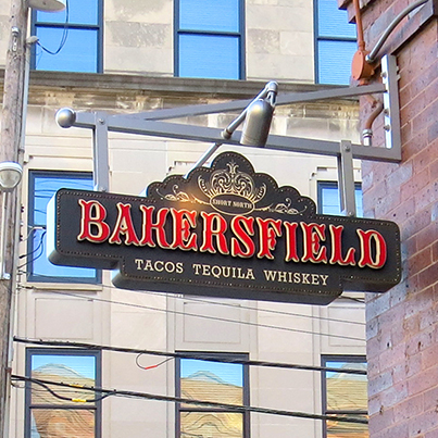 Bakersfield tacos cantilever sign
