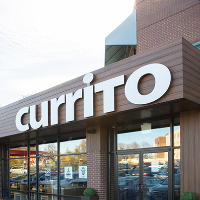 Currito burritos exterior channel letters