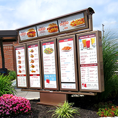 wendy's exterior menu boards