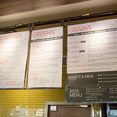 currito Interior menu boards