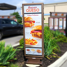 drive thru pre-sell boards