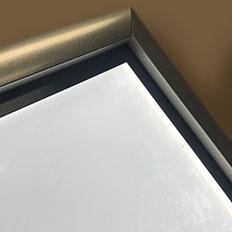 Edge lit LED sign lighting