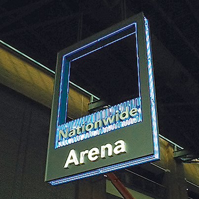 Nationwide Arena Cantilever Sign