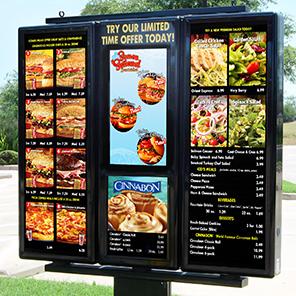 exterior digital menu boards