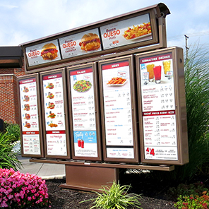 exterior illuminated menu boards